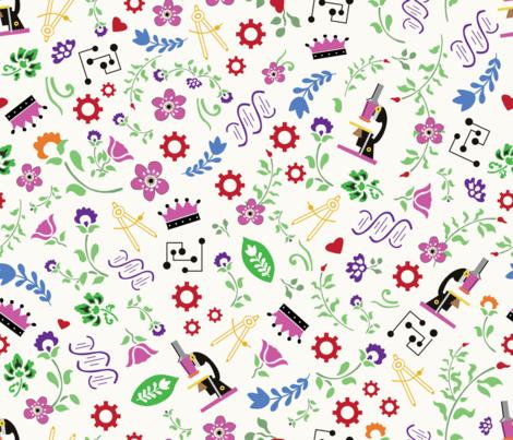 Princess STEM fabric by lauren_mccrea on Spoonflower - custom fabric