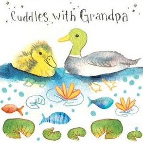 Cuddles with Grandpa