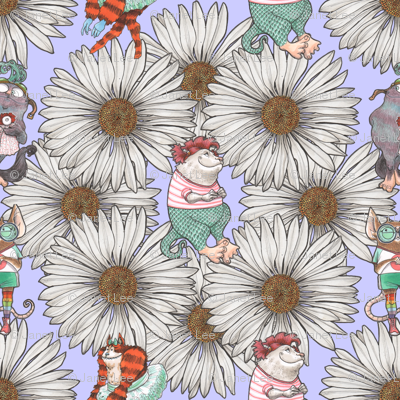 Monsters and Daisies Lavender
