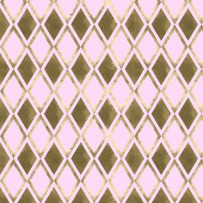 Golden Diamonds - Pink Coordinate