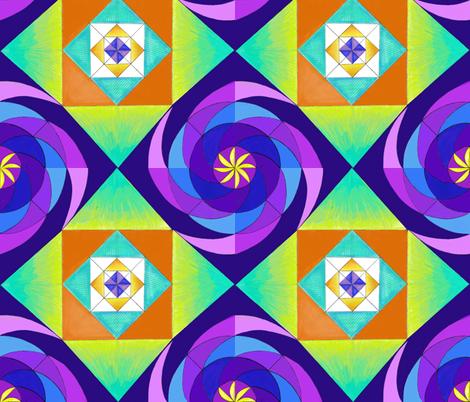 Purple Geopinwheel fabric by kskuared on Spoonflower - custom fabric
