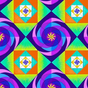 Purple Geopinwheel