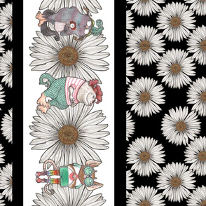 Monsters and Daisies Border