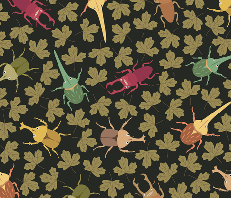 Colorful beetles fabric by iying on Spoonflower - custom fabric