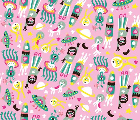 MOTIF ESPACE fabric by love_and_folk on Spoonflower - custom fabric
