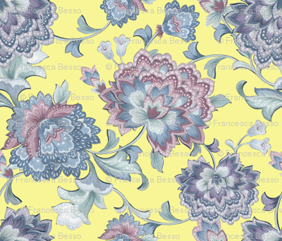 Chintz  yellow