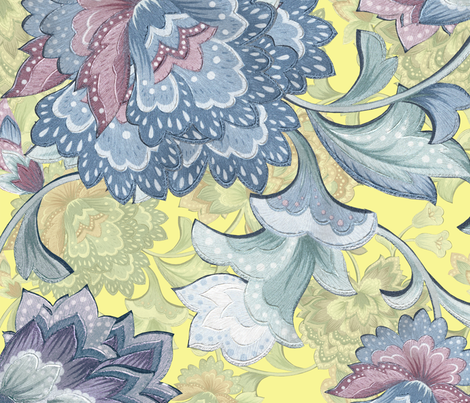 Chintz  yellowB fabric by chicca_besso on Spoonflower - custom fabric