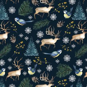 Reindeer in Night