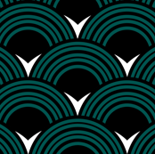 Art Deco Shell Print