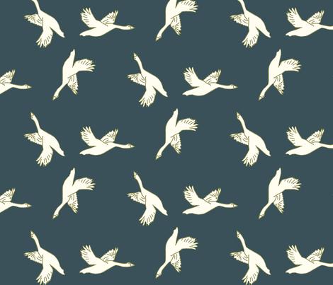 in flight_ green fabric by anneke_doorenbosch on Spoonflower - custom fabric