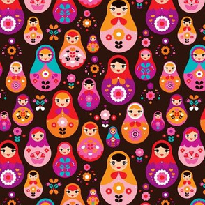 matryoshka russian doll kids pattern SMALL