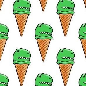 trex icecream cones - dinosaur icecream - white