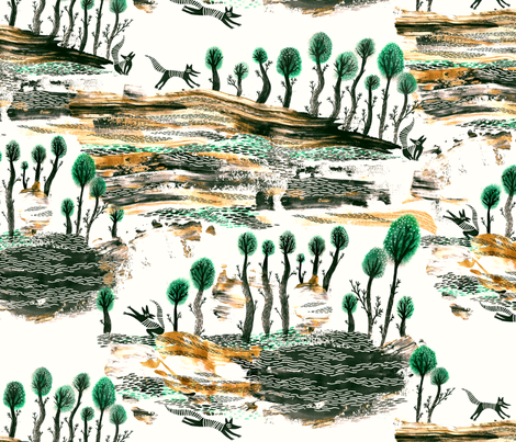 Forêt fabric by eelalaitinen on Spoonflower - custom fabric