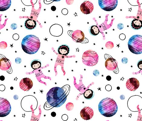 Awesome Astronauts fabric by tatiabaurre on Spoonflower - custom fabric
