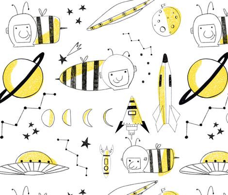 bee spoonflower fabric by samantacibotaru on Spoonflower - custom fabric