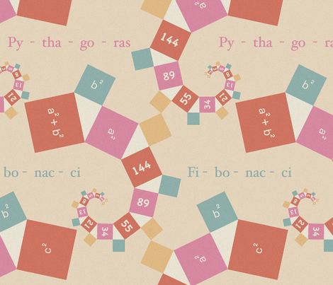 maths  for kids, pastel fabric by dessineo on Spoonflower - custom fabric