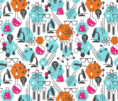 Chemistry Lab - Modern Girl fabric by heatherdutton on Spoonflower - custom fabric