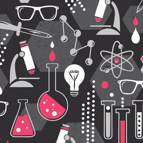 Chemistry Lab - Black & Pink