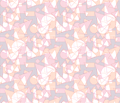 I love geometry fabric by variable on Spoonflower - custom fabric