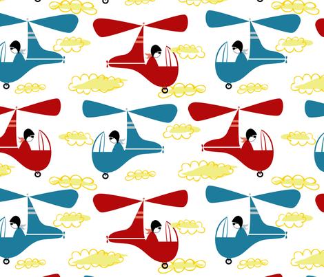 Pilvi fabric by open_face_sandwich on Spoonflower - custom fabric