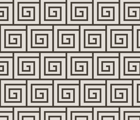 Larger-scale Tendrils - Brown fabric by curtis_mcgintus on Spoonflower - custom fabric