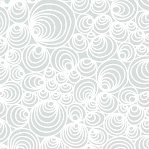 Grey Swirly Shell Pattern