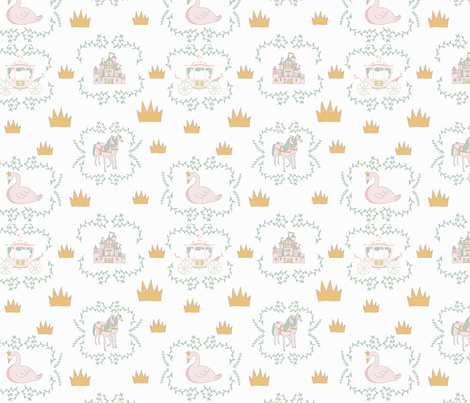 Princess Awesome Challenge fabric by wildflower_like_grace on Spoonflower - custom fabric