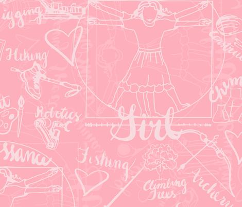 RenaissanceGirl3 fabric by christiebcurator on Spoonflower - custom fabric