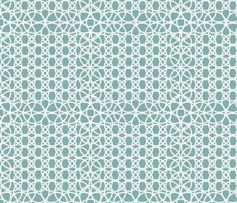 Celtic circles fabric by cleamadethis on Spoonflower - custom fabric