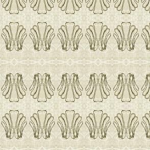 """Antique White Stitched Scallop Shells"""