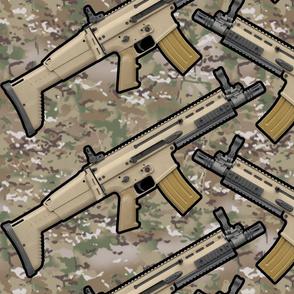FN SCAR Multicam Angled Repeat