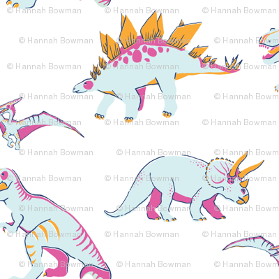 Princess Awesome Neon Dinosaurs