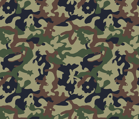 Awesome Camouflage Woodland fabric by wickedrefined on Spoonflower - custom fabric