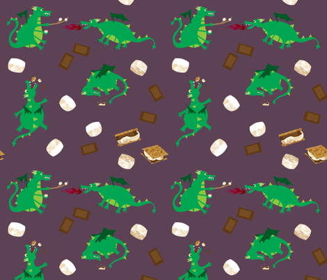 Smore Dragons! fabric by inkysunshine on Spoonflower - custom fabric