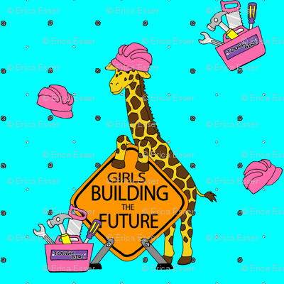 Construction Giraffe Girl