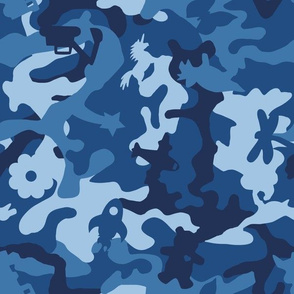 Awesome Camouflage Blue