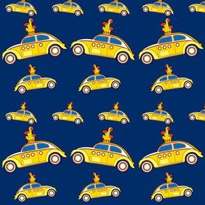 yellow bug fabric 08 blue