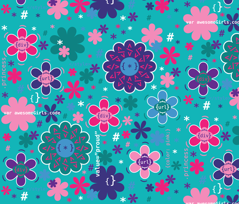 PrincessAwesomeDesignContest-01 fabric by ldeatrich on Spoonflower - custom fabric