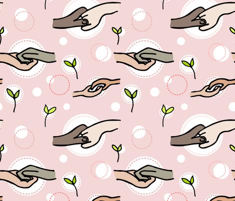 Helping Hands fabric by amy_maccready on Spoonflower - custom fabric