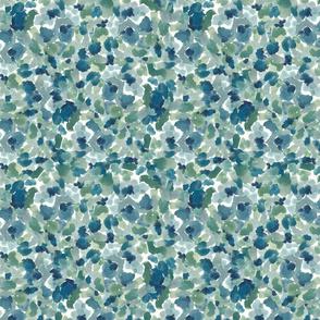 Blue Watercolor Splats