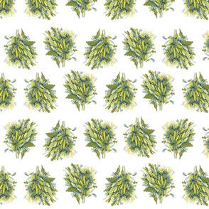 Organized Yellow Flowers