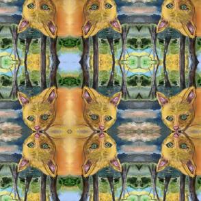 Cat Watercolor - Digital Repeat