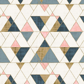 Mod Triangles Gold Pink Blue