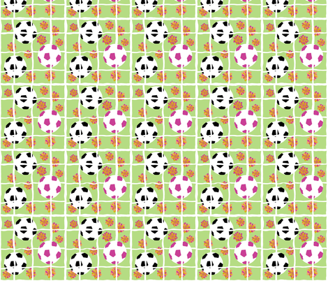3-2.Super soccer girl fabric by jjdesignwithlove on Spoonflower - custom fabric