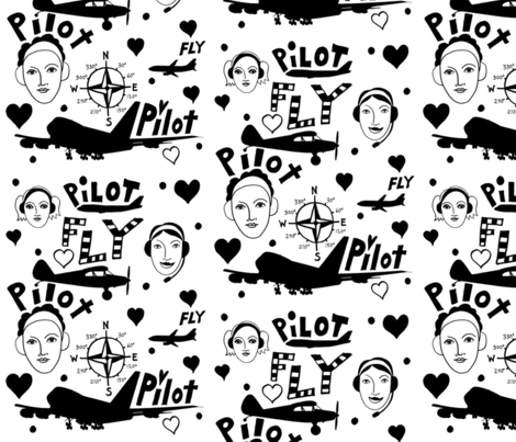 Pilotfabric10-ed fabric by laurakatalin on Spoonflower - custom fabric