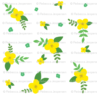 Yellow-floral-simple_preview