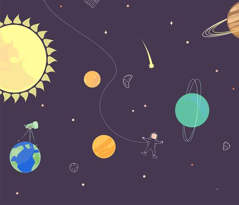Splendid Solar System fabric by alexandradango on Spoonflower - custom fabric