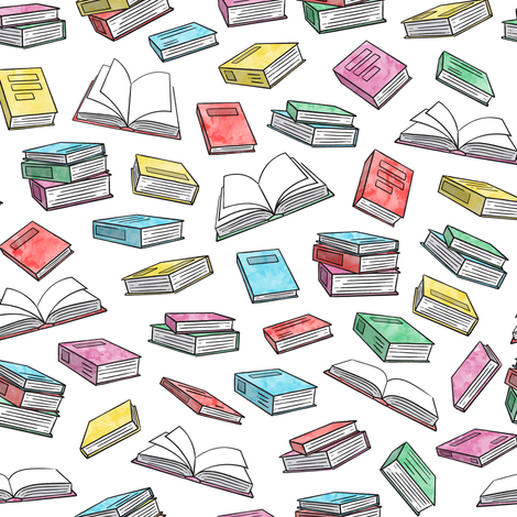 books - watercolor fabric by littlearrowdesign on Spoonflower - custom fabric