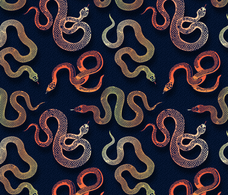 Slither fabric by groundfeather_studio on Spoonflower - custom fabric