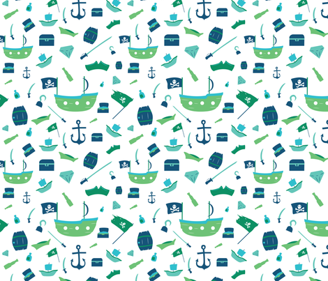 Pirates fabric by svaeth on Spoonflower - custom fabric
